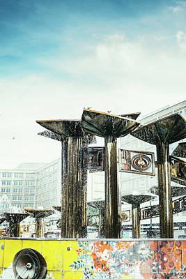 Berlin Art Photograph - Alexanderplatz Friendschip Fountain by Pati Photography