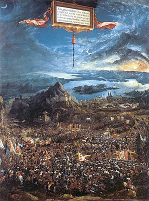Storm Clouds Painting - Alexander's Victory  Battle Of Issus by Albrecht Altdorfer