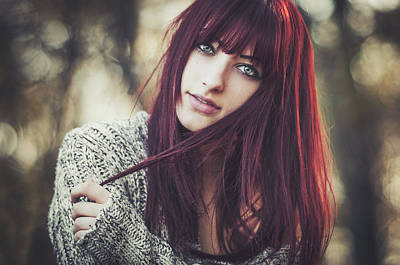 Red Hair Photograph - Alexandra by Arnold Eszenyi
