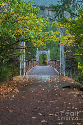 Photograph - Alexandra Bridge In Fall  by Rod Wiens