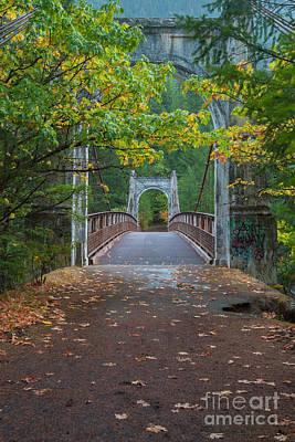 Photograph - Alexandra Bridge In Fall  by Rod Wiens
