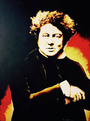Painting - Alexandre Dumas by Victor Minca