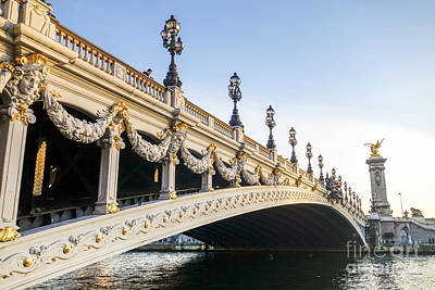 Photograph - Alexandre IIi Bridge In Paris France Early Morning by Perry Van Munster