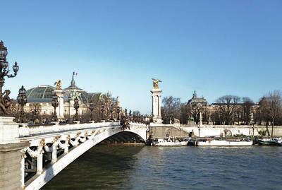 Photograph - Alexandre IIi Bridge In Paris by Laura Greco