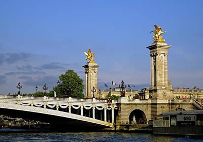 Photograph - Alexander IIi Bridge, Paris  by Gordon Beck