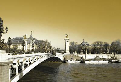 Photograph - Alexandre IIi Bridge Vintage by Laura Greco