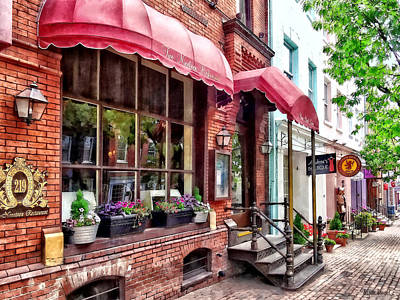 Alexandria Va - Red Awnings On King Street Art Print