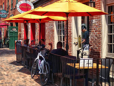 Photograph - Alexandria Va - Restaurant On King Street by Susan Savad