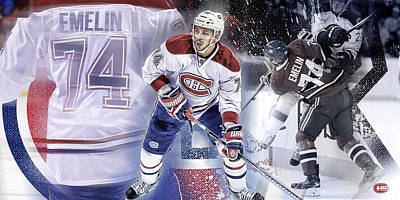 Montreal Canadiens Digital Art - Alexei Emelin by Nicholas Legault