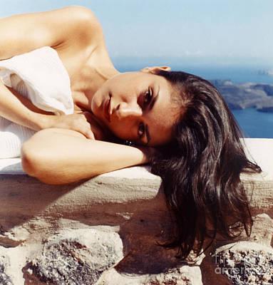 Alexis In Santorini Iv Art Print by Andrea Simon
