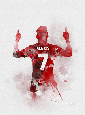 Mixed Media - Alexis Sanchez by Rebecca Jenkins