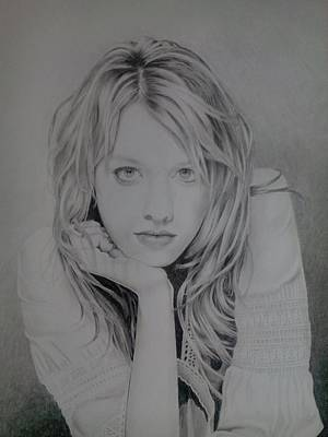 Drawing - Alexz Johnson by Zdzislaw Dudek