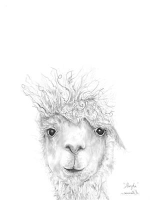 Animals Drawings - Aleyda by K Llamas
