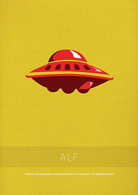 Aliens Mixed Media - Alf My Favorite Tv Shows Series 015 by Design Turnpike