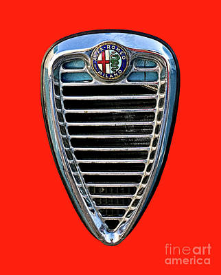 Photograph - Alfa Grille by Tom Griffithe