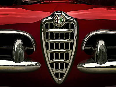 Italian Digital Art - Alfa Red by Douglas Pittman