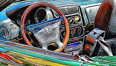 Photograph - Alfa Romeo 2 Through The Window by Dorothy Berry-Lound
