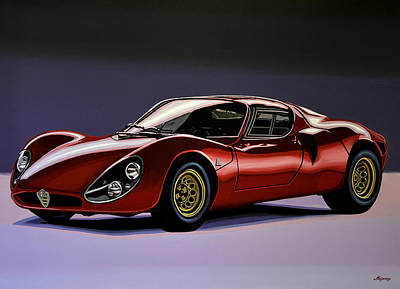 Alfa Romeo 33 Stradale 1967 Painting Original by Paul Meijering
