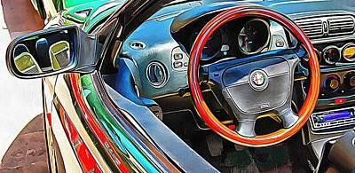 Photograph - Alfa Romeo 4 Through The Window by Dorothy Berry-Lound