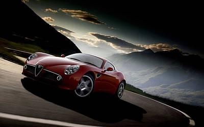 Transportation Digital Art - Alfa Romeo 8c Competizione by Maye Loeser
