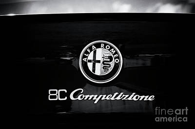 Photograph - Alfa Romeo 8c Competizione Monochrome by Tim Gainey