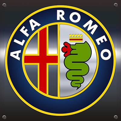 Alfa Romeo Logo Art Print