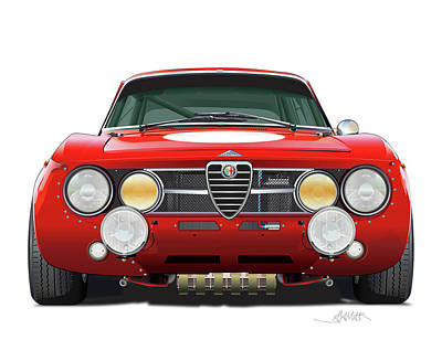 Digital Art - Alfa Romeo Gtam  by Alain Jamar