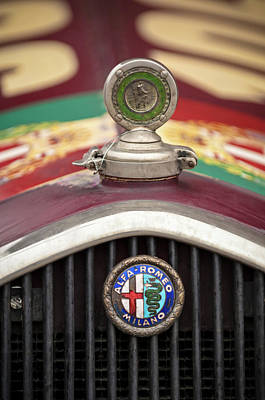 Photograph - Alfa-romeo Hood Ornament by Jill Reger