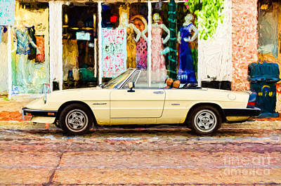 Photograph - Alfa Romeo Spider - Painterly by Les Palenik