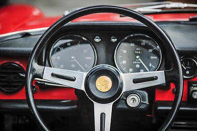 Photograph - Alfa Romeo Steering Wheel -0904c by Jill Reger