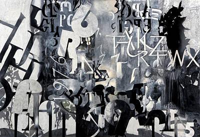Delta Painting - Alfabeto Bianco Nero by Guido Borelli