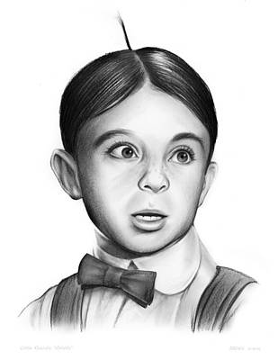 Our Drawing - Alfalfa by Greg Joens