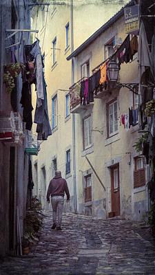 Alfama Photograph - Alfama Life Lisbon Portugal by Joan Carroll