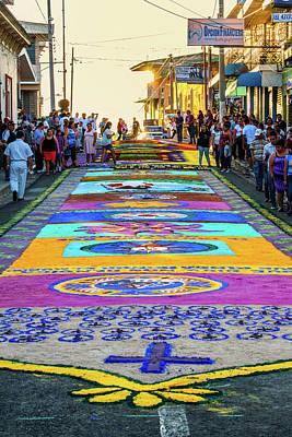 Semana Santa Wall Art - Photograph - Alfombra - Semana Santa - El Salvador IIi by Totto Ponce
