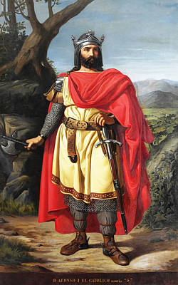 Catholic For Sale Painting - Alfonso I The Catholic King Of Asturias by Manuel Castellano