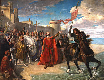 Painting - Alfonso X Taking Possession Of The Sea After The Conquest Of Cadiz by Matias Moreno