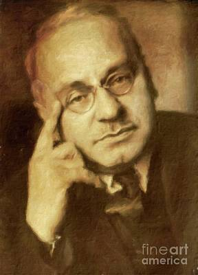 Vintage Painter Painting - Alfred Adler, Psychotherapist By Mary Bassett by Mary Bassett
