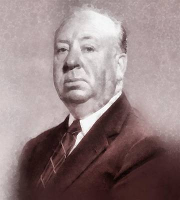 Television Painting - Alfred Hitchcock By John Springfield by John Springfield