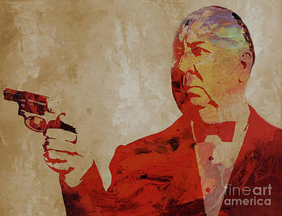 Painting - Alfred Hitchcock by Gull G