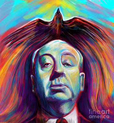 Alfred Painting - Alfred Hitchcock by Julianne Black