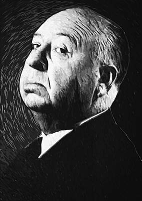 Digital Art - Alfred Hitchcock by Taylan Apukovska