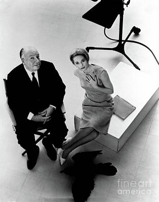 Tippi Photograph - Alfred Hitchcock Tippi Hedren The Birds  by Sad Hill - Bizarre Los Angeles Archive