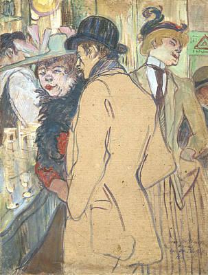 Husband And Wife Painting - Alfred La Guigne by Henri De Toulouse-lautrec