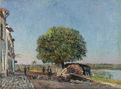 Ceramics Painting - Alfred Sisley 1839 - 1899 The Chestnut At Saint by Celestial Images