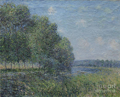 River View Painting - Alfred Sisley, River View by Celestial Images
