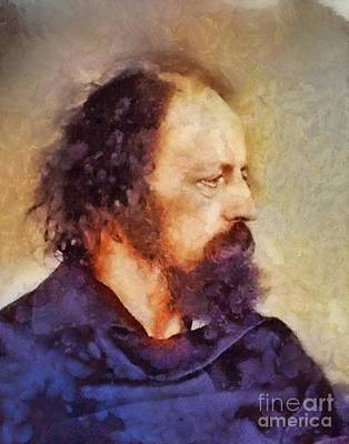 Famous Book Painting - Alfred Tennyson, Literary Legend by Sarah Kirk