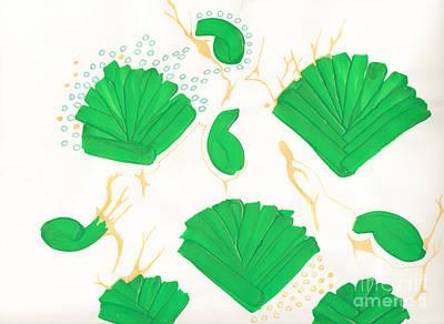 Algae Blooms Art Print by Mary Mikawoz