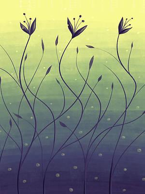 Algae Plants In Green Water Art Print