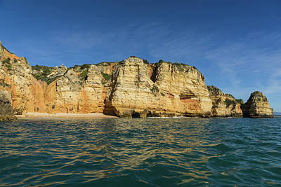 Photograph - Algarve Magic - Sailing By Colorful Cliffs And Secluded Beaches by Georgia Mizuleva