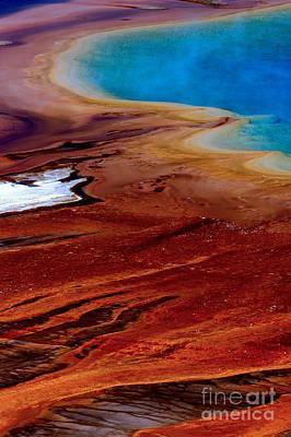 Photograph - Alge Around Grand Prismaic Spring by Adam Jewell